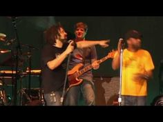"""Counting Crows with Hootie and the Blowfish performing Bob Dylan's """"You Ain't Goin' Nowhere"""