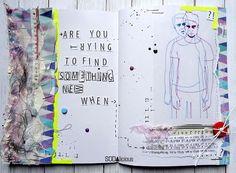 "made by Guru ► SODAlicious art journal challenge No18 ""Something new"""