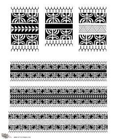 Tattoo of Marquesan armbands, Traditional motifs tattoo - custom tattoo designs on TattooTribes.com