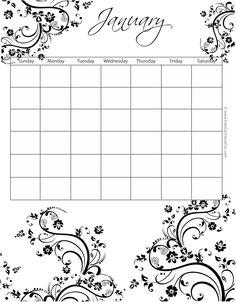 January Calendar Kidscanhavefun Printable Calendars