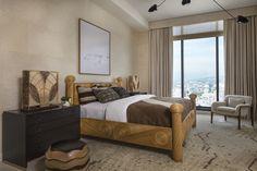 KELLY WEARSTLER | INTERIORS. Master Bedroom, Hollywood Proper Residences Penthouse.