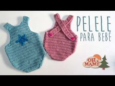This tutorial will show you how to crochet an easy baby romper / onesie. For size 0 - 6 months use a crochet hoo. Crochet Onesie, Crochet Bebe, Crochet Baby Clothes, Knit Crochet, Baby Girl Cardigans, Baby Sweaters, Baby Girl Romper, Baby Dress, Crochet Pillow Patterns Free