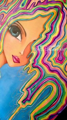 Romi Lerda Dibujos Cute, Art Journal Inspiration, Art Plastique, Portrait Art, Illustrations, Face Art, Medium Art, Art Girl, Canvas Wall Art