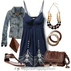 Casual Outfits | Blue Sun Dress | Fashionista Trends