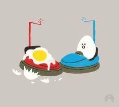 Ups - Happy drawings :) Humor en coches de choque