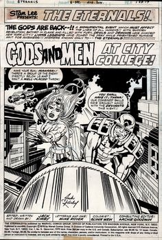 Eternals #6 p 1 SPLASH (1976) Comic Art For Sale By Artist Jack Kirby at Romitaman.com