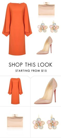 """""""Untitled #3"""" by dianarsandrade ❤ liked on Polyvore featuring Osman, Christian Louboutin, Mixit, women's clothing, women, female, woman, misses and juniors"""