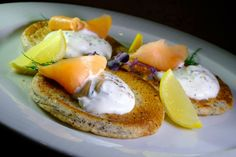 Pohánkové bliny s lososom - recept Eggs, Breakfast, Basket, Morning Coffee, Egg, Egg As Food