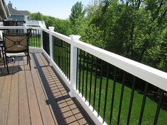 Trending in style with popular colors and a combination of low maintenance products, this custom deck design is a stand-out project for… Outdoor Spaces, Outdoor Living, Outdoor Decor, Laying Decking, Diy Deck, Deck Pergola, Building Contractors, Custom Decks, Building A Deck