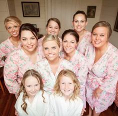 Gorgeous!! The beautiful bride @kristiewebster & her bridal party in our #SatinRobes 💕 Love!