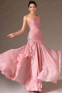 eDressit 2014 New Pink One-Shoulder Beaded Prom Dress (00146301)