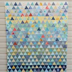 Pyramid Quilt with Tutorial by Hyacinth Quilt Designs