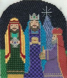 NeedlepointOrnament of the Month of the Three Wise Men