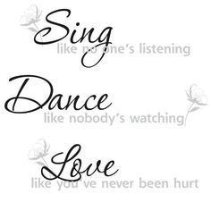 ROOMMATES RMK1552SCS  Dance Sing Love Peel  Stick Wall Decals -- This is an Amazon Affiliate link. Click image to review more details.