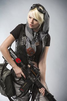 """Rin with a Parallax Tactical 13.7"""" Barrel build and Claymore messenger bag inspired by the actual carrying bag used for Claymore antipersonnel mines and made with premium components"""