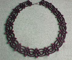 Free pattern for beautiful beaded necklace Juliette         [ad#Ads_post]