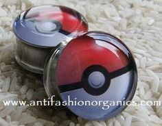 Pokemon Pokeball Picture Plugs Gauges