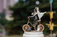 muñecos para torta de bodas divertidos en bicicleta - Buscar con Google