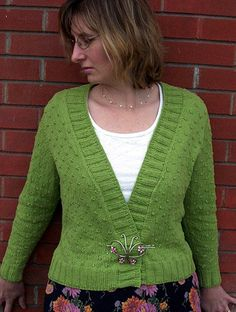 Free Knitting Pattern - Women's Cardigans: Ungranny Smith Cardigan
