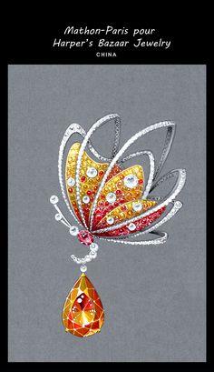 Harper's Bazaar jewellery & Mathon Paris