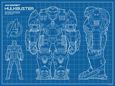 """Hulkbuster Blueprint"" by Timcab"