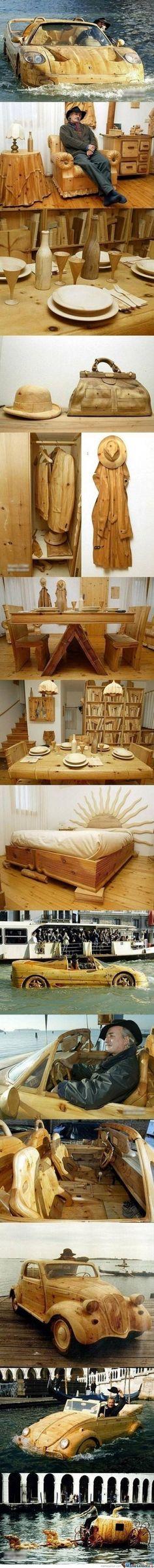 Awesome wood art #Amazing #Wood #Crazy