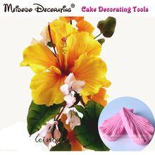 Hibiscus blütenblatt blume Veiner Form kuchen dekorieren tools, fondantform/werkzeuge/cutter, kuchenform backen ausstecher(China (Mainland))