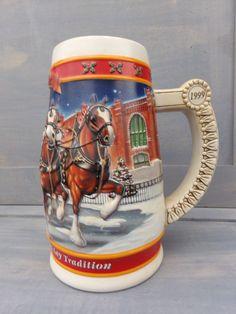 New Anheuser Busch Budweiser 2012 Holiday Beer Mug Beer stein Orig Box w// COA