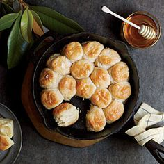 Nestle these yeast biscuits snug together in the pan and they'll rise even higher when baked. You don't have to use all the dough at once--refrigerate in an airtight container up to 5 days.