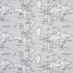 Maps Curtain Fabric