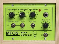 Music From Outer Space is your synth-diy headquarters. Analog synthesizer plans and schematics. Music From Outer Space, Shapes, Diy, Bricolage, Do It Yourself, Fai Da Te, Diys