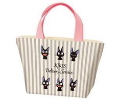 Leap back into the delightful world of Kiki's Delivery Service with this exclusive set featuring Kiki's beloved cat, Jiji! Product Description Enjoy the many faces of Jiji with the adorable pastel Jiji Stripes Canvas Lunch Bag.This delightful canvas bag features sturdy pink handles and ample space for carrying your ben Bento And Co, Bento Box, Veggie Cups, Gothic Anime, Striped Canvas, Canvas Tote Bags, Delivery, Reusable Tote Bags, Pastel