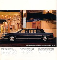 1987 Cadillac Fleetwood Seventy-Five Limousine Classic Cars, Classic Auto, Car Brochure, Cadillac Fleetwood, Truck Design, Car Advertising, Old Cars, Vintage Ads, Benz
