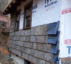 Poplar Bark Siding Installation | Parton Bark Siding