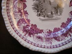 Decorative Dishes - Purple Plum Black Toile Exotic Garden Fruit Floral Plate, $39.99 (http://www.decorativedishes.net/purple-plum-black-toile-exotic-garden-fruit-floral-plate/)