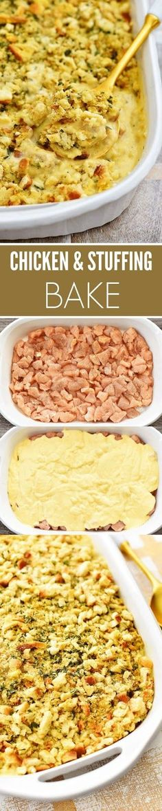 Chicken & Stuffing Bake Recipe | CUCINA DE YUNG