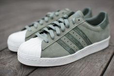 "#adidas Superstar 80s ""Olive Green"" #sneakers"