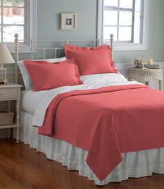 Leaf Matelass Coverlet: Bedding   Free Shipping at L.L.Bean