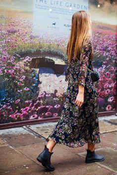Look Street Style, Street Style 2016, Street Style Women, Street Styles, Mode Hippie, Mode Boho, London Fashion Weeks, Boho Fashion, Autumn Fashion