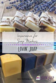 insurance for soap makers - Soap | Handmade Soap | DIY Soap | Soap Making | Soapmaking | Learn to make soap | Natural Soap | Soap Recipe | Soap Tutorial