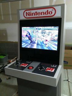 An Amazingly Accurate DIY Nintendo Controller Themed Arcade Cabinet Reddit...I WANT ONE!!!!!