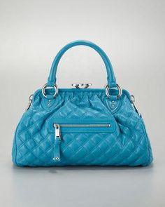 Marc Jacobs Stam Quilted Satchel Bag, Turquoise