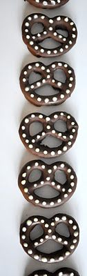 Chocolate Polka dot Pretzels