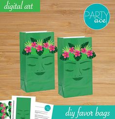 Do It Yourself Moana Birthday Party theme Returns the heart of Te Fiti Favor Bags with Te Fiti Character. PDF File includes: -Te Fiti face artwork -Te Fiti Crown -Insturctions Printable in letter format size 8.5x11