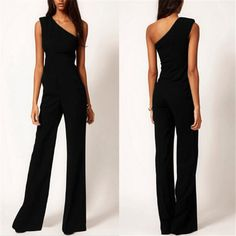 - This Sexy, Off Shoulder, Sleeveless, Side Zipper, Wide Leg Pants, Flared yet Slim Jumpsuit will make you feel like the sexiest woman in the room and with the least effort! - Step in, zip and voila. - Travels extremely well! - Item Type: Jumpsuits & Rompers Pattern Type: Solid Type: Jumpsuits Fabric Type: Broadcloth Length: Full Length Decoration: None Style: Sexy, Elegant, Flowy Material: Polyester Fit Type: Loose Size:S, M, L, XL, XXL, Material: Polyester Season: Spring, Summer, Autumn…