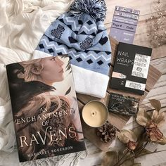 Have you read An Enchantment of Ravens by @margaret_rogerson yet? I havent... so I was sooooo excited to see it was the book included in this months @uppercasebox!! (And of course it being signed is also an added plus! ) This box also included a beautiful pin exclusive bookish nail wraps and an exclusive adorable bookstack winter hat! As always this box was fantastic!  ________________________________________________________ #uppercasebox #subscriptionbox #bookbox #unboxing…