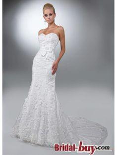 low back mermaid/trumpet vintage lace wedding dresses