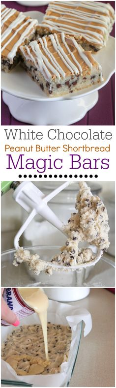 White Chocolate Peanut Butter Shortbread Magic Bars.  Sinfully buttery delicious!!
