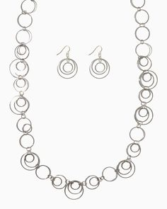 charming charlie | In Orbit Long Neckace Set | UPC: 410005258229 #charmingcharlie