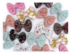 Mantelinan rusettisoljet - Hair clips with bows made by Mantelina